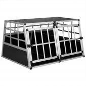 Cage transport chien trapézoïdale paroie  - 98x70x51cm