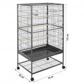 Volière cage à oiseaux - 131x78x52cm
