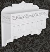 Étagère murale en bois avec tiroirs portemanteau armoire
