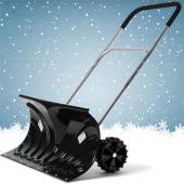 Pelle a neige poussoir a roues
