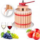 Pressoir à baies fruit jus manuel presse mécanique pommes vin bois de chêne 12 L