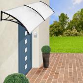 Auvent de porte banne entrée - 300cm -  marquise solaire abri ombre