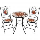 Table + 2 chaises mosaique
