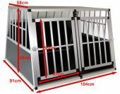 Cage de transport chien - 104x91x69cm (trapézoïdal)