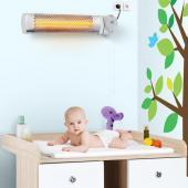 Chauffage radiateur électrique halogène chauffante table à langer 600W mural