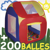Tente de jeu pour enfants avec 200 balles multicolores piscine à balle