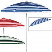 Parasol en métal inclinable - Couleur au choix - parasol de plage ou j