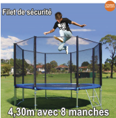Filet de sécurité 4,30m