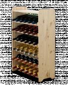 Range bouteille - casier 36 bouteilles - 92x63x26cm