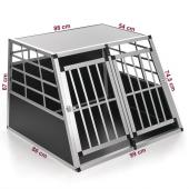Cage transport chien alu - 99x86x67