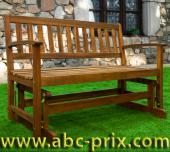 Banc de jardin en bois - 124cm