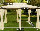 Tente TOPAS pavillon tonnelle de jardin 3*4 mètres