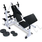 Banc de Musculation Multifonction 4 Poids