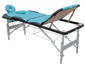 Table de massage alu - 3 zones