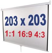 Ecran videoprojecteur - 2x2m