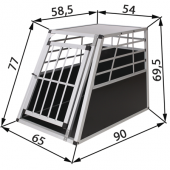 Cage de transport chien - 65x91x70