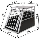 Caisse de transport chien - 65x91x70