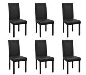 Lot de 6 chaises de salle à manger (noir)