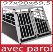Cage transport chien - 97x90x70cm
