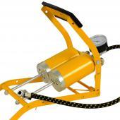 Pompe double cylindre jaune 10 bar pour auto, moto pompe à pieds