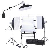 Eclairage studio 3 supports+3flash+3 softboxes 50x70 cm