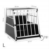 Cage transport chien trapézoïdale - 66x90x72cm