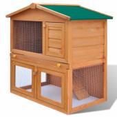 Cage Clapier Extérieur en Bois pour Lapins clapier à lapin Cage lapin