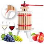 Pressoir à baies fruit jus manuel presse mécanique pommes vin bois de chêne 6 L