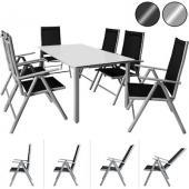 Salon de jardin aluminium - 7 pièces