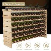 Range bouteille - casier a bouteille - 91 bouteilles