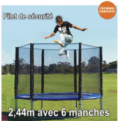 Filet de sécurité 2,44m