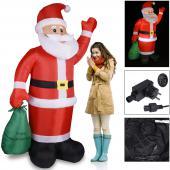 Père Noel gonflable lumineux 195cm
