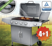 Barbecue grill à gaz BBQ inox 4 brûleurs