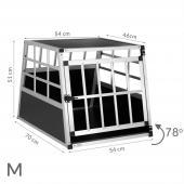 Cage transport chien trapézoïdale - 54x70x51cm