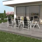 Salon de jardin aluminium -  8 chaises