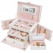 Boîte a bijoux - coffret à bijoux - maquillage, montres, bagues