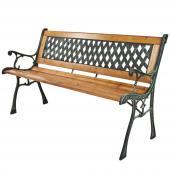 banc de jardin / extérieur en bois et fonte