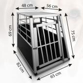Cage de transport chien - 65x82x69cm
