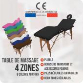Table de massage Bois - 4 zones - pliante