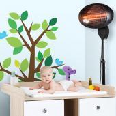 Chauffage radiateur électrique sur pied d'appoint ventilation chaleur hiver 650W ✔3 niveaux✔Tige télescopique réglable ✔Tête inclinable