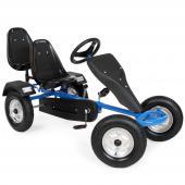 Kart à pédale à 2 places bleu