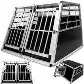 Cage de transport chien en aluminium - 104x91x70cm