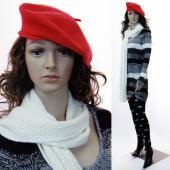 Mannequin Femme Beret + perruques