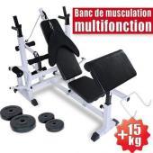 Banc de musculation multi exercices multifonction appareil de fitness