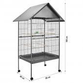 Volière exterieur - cage à oiseaux perruches canaries