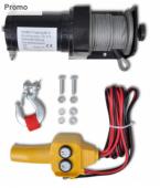 Treuil électrique 12 V 907 KG Télécommande avec fil