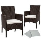 Fauteuil exterieur - chaise tressée x2