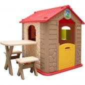 Maisonnette, table et banc