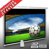 16:9 Écran motorisé pour videoprojecteur 274 x 154 cm