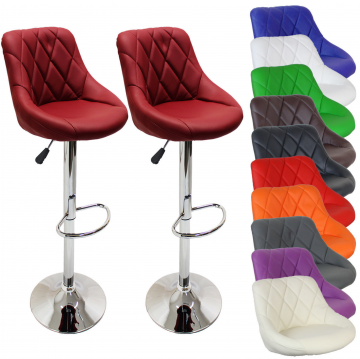 Tabouret de bar x2 - 10 coloris